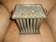 Very Rare Antique 19th.c 48 Tube Form Tin Candle Mold Primitive