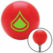 Green Private First Class Red Shift Knob Usa Shifter Auto Manual Car Trans Gear