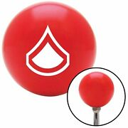 White Private First Class Red Shift Knob Usa Shifter Auto Manual Car Jdm Speed