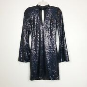 """Ryse The Label """"sawyer"""" Sequined Split Sleeve Cocktail Dress Size Xs"""