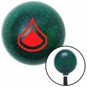 Red Private First Class Green Metal Flake Shift Knob M/t Usa Shifter Car Drag Si