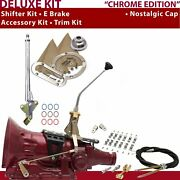 Th350 Shifter Kit 10 E Brake Cable Clamp Clevis Trim Kit For Lokar Truck Gennie