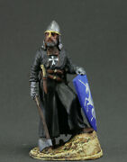 Painted Toy Tin Soldiers 54 Mm. Middle Ages. Knight Crusader