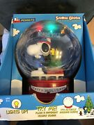 Snoopy Peanuts Snowglobe Electric Christmas Music Song Large Holiday Gemmy Works