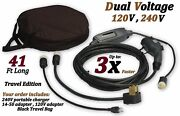 Level 2 Electric Vehicle Charger Ev Charging Cable Cord 240v 41ft J1772,5-15,16