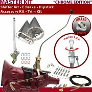C4 Shifter Kit 23 Swan E Brake Cable Clamp Clevis Trim Kit Dipstick For Car