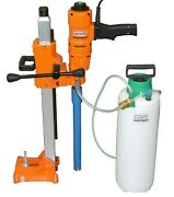 4 New 3 Speed Hand Held Core Drill With Stand And Water Tank