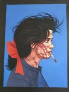 Mike Mitchell Wynona Rider Portrait Lick It Up Baby Signed Giclee 2013