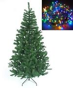 8ft Green Alaskan Pine Christmas Tree Decorations With 500 Multicolor Led Lights
