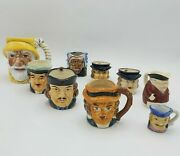 Collection Of 9 Toby Mugs Made In Japan - Varying Conditions