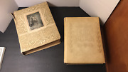 2 Vintage Holy Bibles Old And New Testament King James Version Large Free Ship