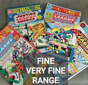 1974 Justice League Of America Dc Comics Lot 100 Page Giants 113,114,115,116