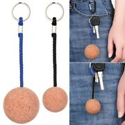 Rowing Boats Key Chain Holder Cork Ball Keychain Pool Accessories Floating Buoy