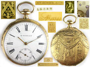 Gold 56 14k Pocket Watch Hy Moser And Cie Art Deco Swiss