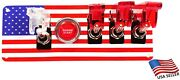 Sale 12v Switch Panel American Flag Red Push Start 1 White/3 Red Led Switches