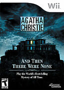Agatha Christie And Then There Were None Nintendo Wii, 2008
