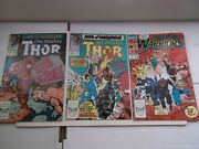 Marvel Thor 411 412 And New Warriors 1 1st App Of New Warriors 1989 Vf/nm