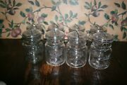 8- Vintage Ball Ideal Pint Clear Jar With Glass Lids Wire Clamp