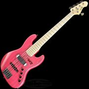 New Atelier M-265 Custom 19mmpitch Tp-pnk Electric Bass Guitar From Japan