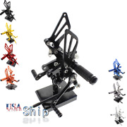 Rearsets Foot Rest Fit For Gsxr600 750 1000 Sv650s Mt-07/fz07 Yzf R1 R6 Zx6r Cbr