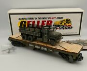 Geller Toy Trains Dodx M35a1 Deuce And A Half Usmc With Gun O Scale 0-027