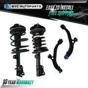 2 Front Strut Assembly + 2 Lower Control Arms For 2001-2007 Dodge Grand Caravan