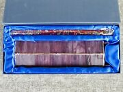 Purple Stained Glass Kaleidoscope 10 With Prismatic Oil Wand 11.5 New In Box