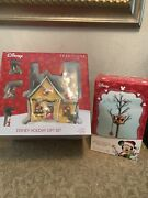 Department 56 Disney Mickey's Merry Christmas Village 4 Piece Set And Tree House