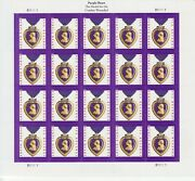 Military Purple Heart Medal Stamp Sheet -- Usa 5419 Forever 2020