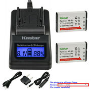 Kastar Battery Lcd Fast Charger For Casio Np90 Casio Exilim Ex-h10 Ex-h15 Ex-h20