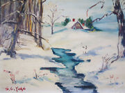 Si.chen. Yuan 1911-1974 American-chinese Oil Painting Signed