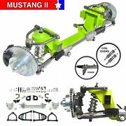 Universal Mustang 2 Ifs Front Steer 56.5 Track Coilover 2 Drop 6x5.5 Power Rack