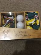 Classic Collections Golf Gift Set 3 Balls Rag And Lots Of Pins