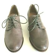 New Belle Sigerson Morrisons Elam Flat Oxford Gray Leather Shoes Size 7.5 New Bt