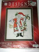 Designs For The Needle Cross Stitch Kit 1981 Father Christmas