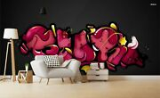 3d Doodle Graffiti Letter Wallpaper Wall Mural Removable Self-adhesive Sticker