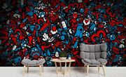 3d Doodle Graffiti Pattern Wallpaper Wall Mural Removable Self-adhesive Sticker