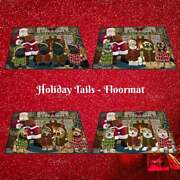 Christmas Cozy Fire Holiday Tails Dog Cat Pet Photo Floormat Doormat Welcome Mat