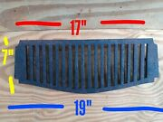 Vintage Old Antique Iron Fire Grate Grill Original Fireplace Rare Large Heavy