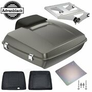 Industrial Gray Razor Tour Pak Pack For Harley Street Road Electra Glide 97+