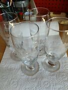 Michelob Special Ales And Lagers Beer Pilsner Etched Glass Set Of 4 / Holds 12oz