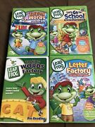 Leap Frog Learning Dvd Lot Of 4 Talking Words Letter Factory Words Factory