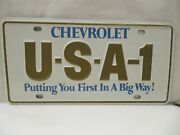 Nos 1970and039s Chevrolet Usa-1 Steel License Plate Camaro Chevelle Impala Nova Ss