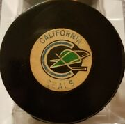 1969-1979 Vintage Nhl California Seals Converse Art Ross Official Game Puck