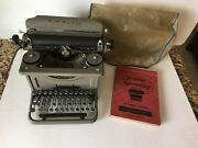 Vintage 1936 Lc Smith And Corona Typewriter Inc. With Original Course Book 1947
