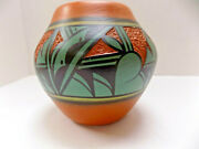 Studio Art Pottery Arts And Crafts Mission Incised Pattern Unmarked 5 Flower Pot