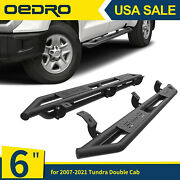 Oedro 6 Tri-tube Armor Running Board Side Steps For 2007-2021 Tundra Double Cab