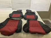 1993-95 Pontiac Trans Am Firehawk Ws6 Front Seat Covers Only Black W/red Inserts