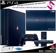 Game Console Sony Ps4 Pro 2tb Playstation Version Edition 500 Million 50000