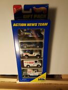1996 Hot Wheels 5 Pack Action News Team Helicopter Van Jeep Truck